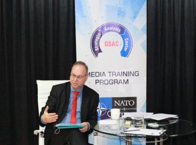 Andrej Klymzcyk's lecture in Media Training