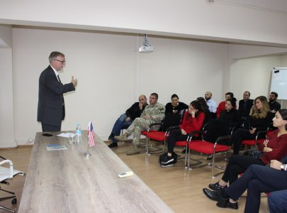 Georgian Strategic Analysis Center hosted public lecture of Dwight Nystrom