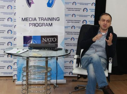 Tornike Sharashenidze's lecture in Media Training Program